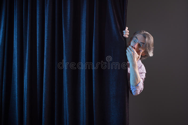 Homem Scared imagens de stock
