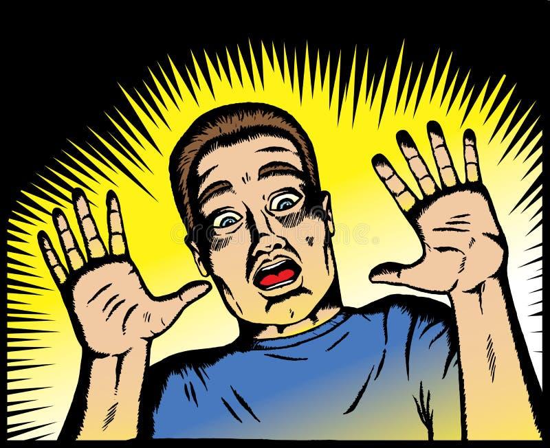Homem Scared. ilustração royalty free