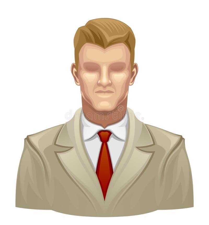 Homem sem cara ilustração do vetor