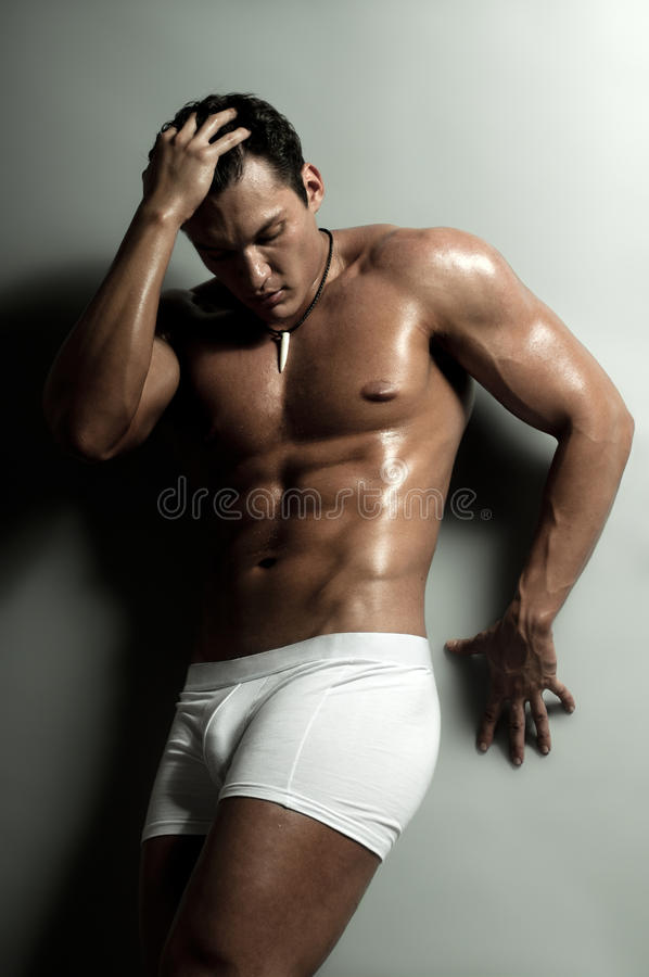 Homem 'sexy' fotografia de stock royalty free