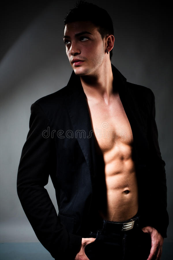 Homem 'sexy' fotos de stock royalty free