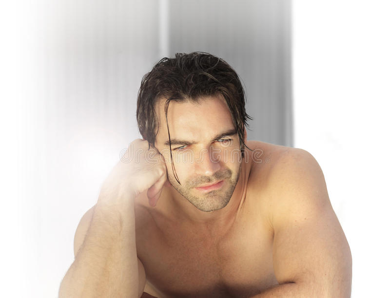 Homem 'sexy' dos termas imagens de stock royalty free