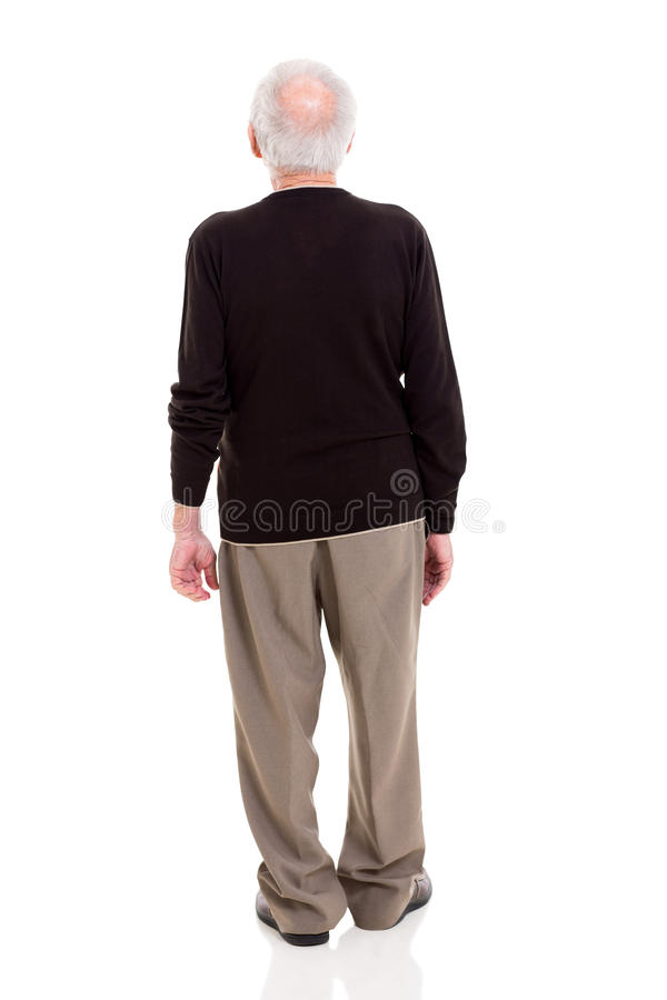 Homem superior da vista traseira fotografia de stock