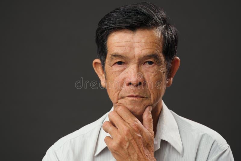 Homem superior vietnamiano imagens de stock royalty free