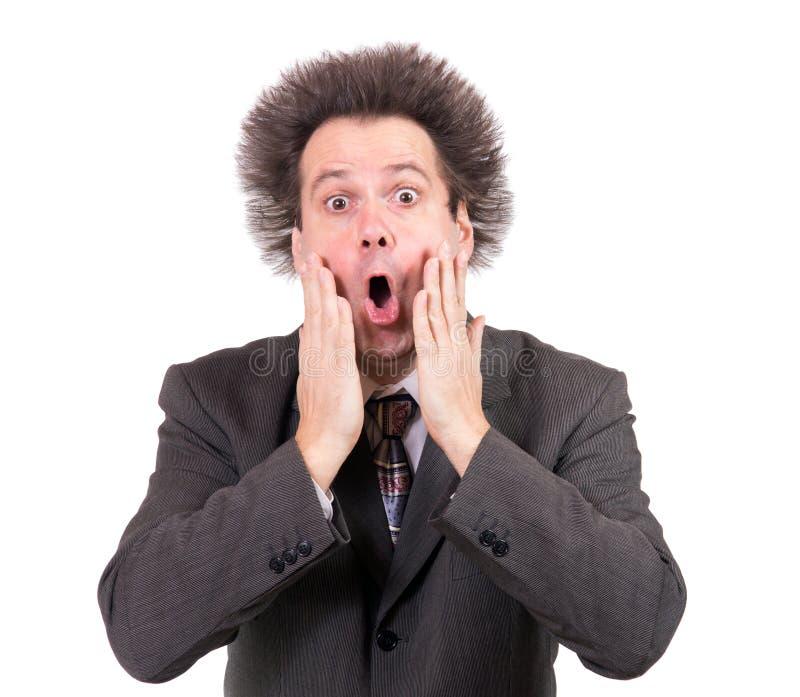 Homem surpreendido imagem de stock royalty free
