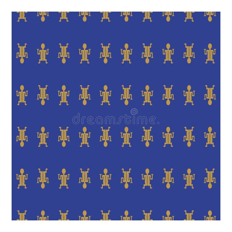 Homem tribal do ouro em um fundo azul foto de stock royalty free