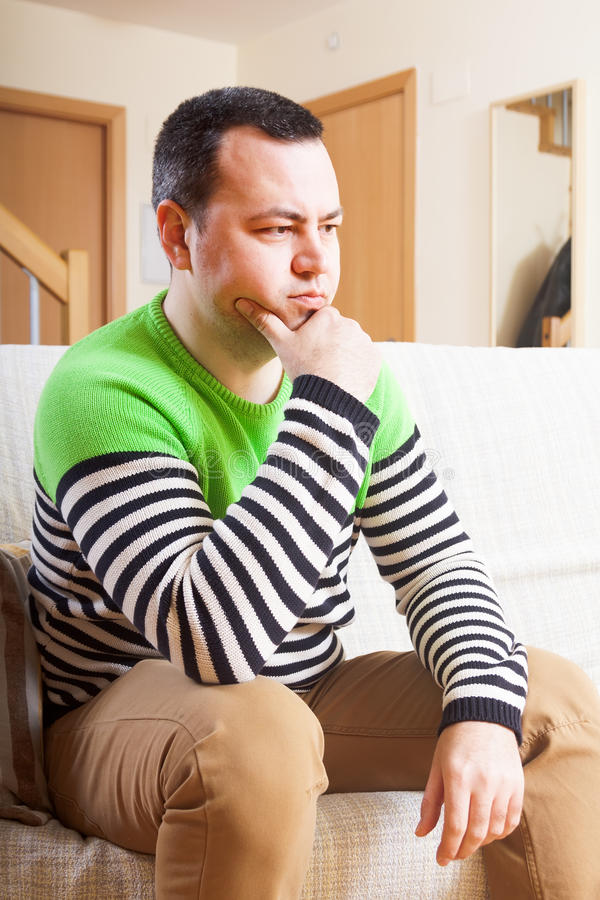 Homem triste fotografia de stock royalty free