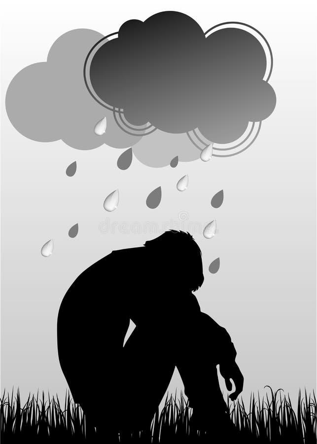 Homem triste ilustração do vetor