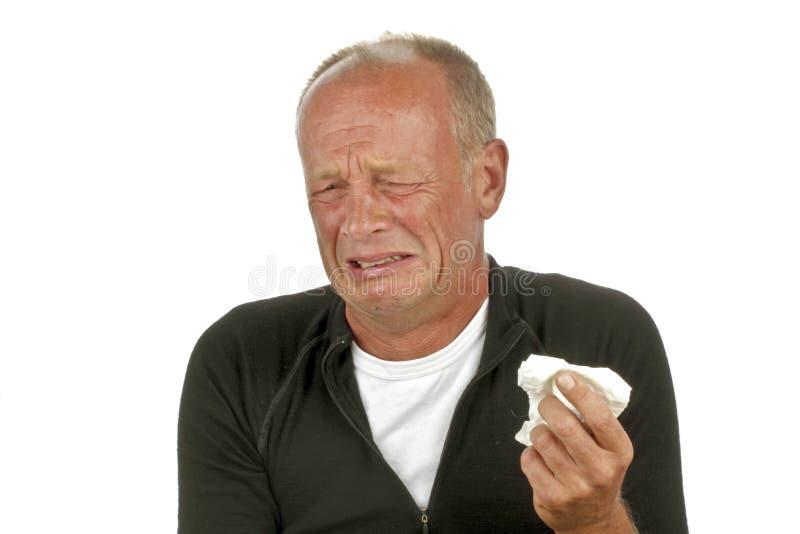 Homem triste de grito fotografia de stock royalty free