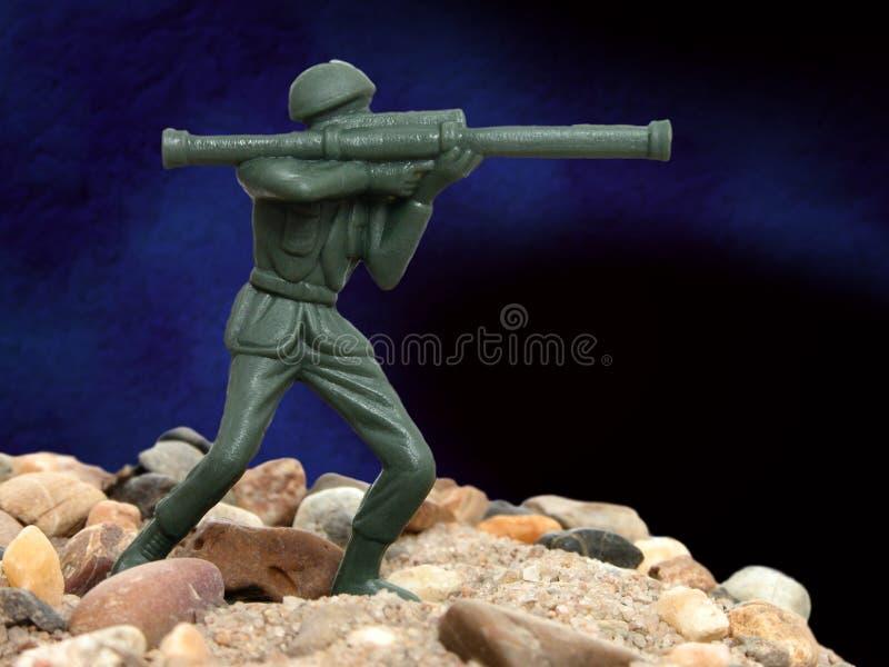 Homem verde do exército do brinquedo fotos de stock royalty free