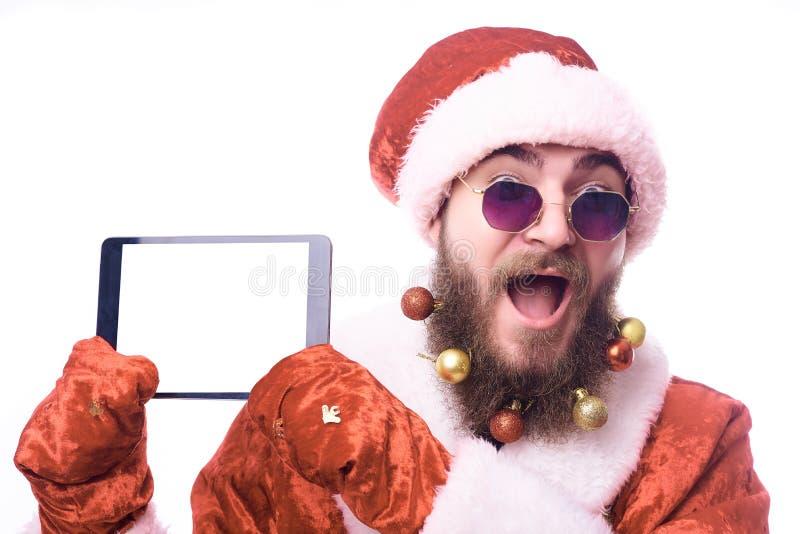 Homem vestido como Santa Claus foto de stock