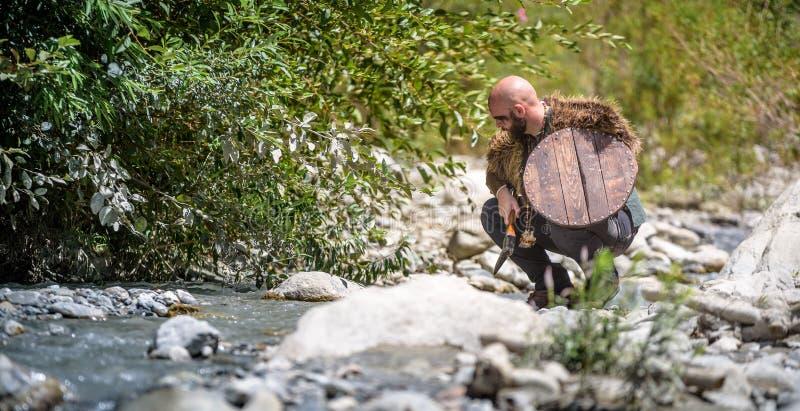 Homem Viking Character imagem de stock royalty free