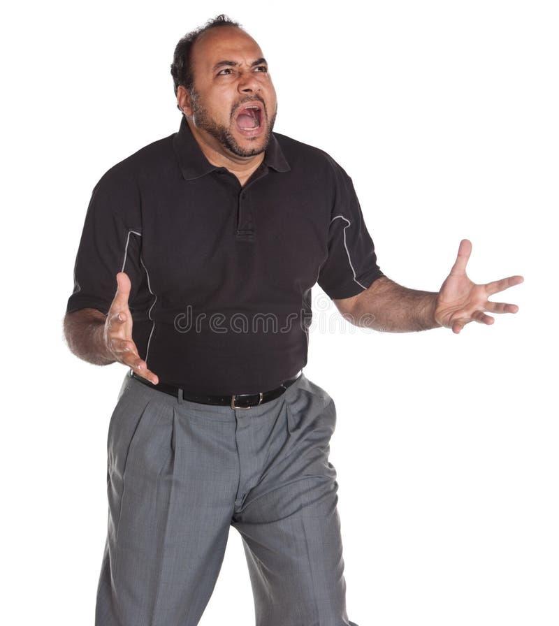 Homem virado imagem de stock