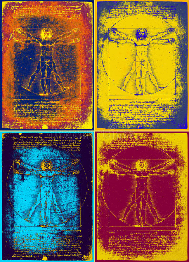 Homem vitruvian de Leonardo ilustração royalty free
