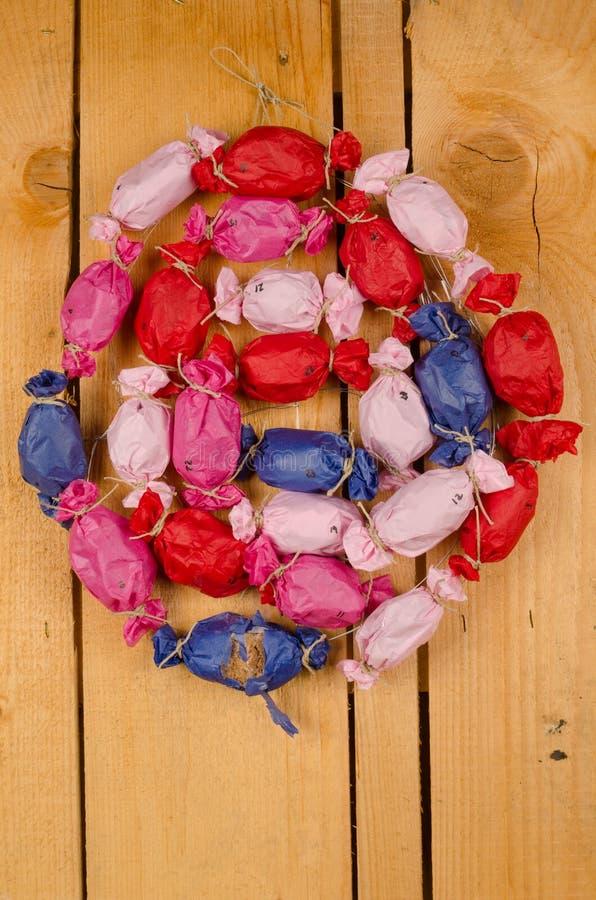 Homemade Advent calendar stock image