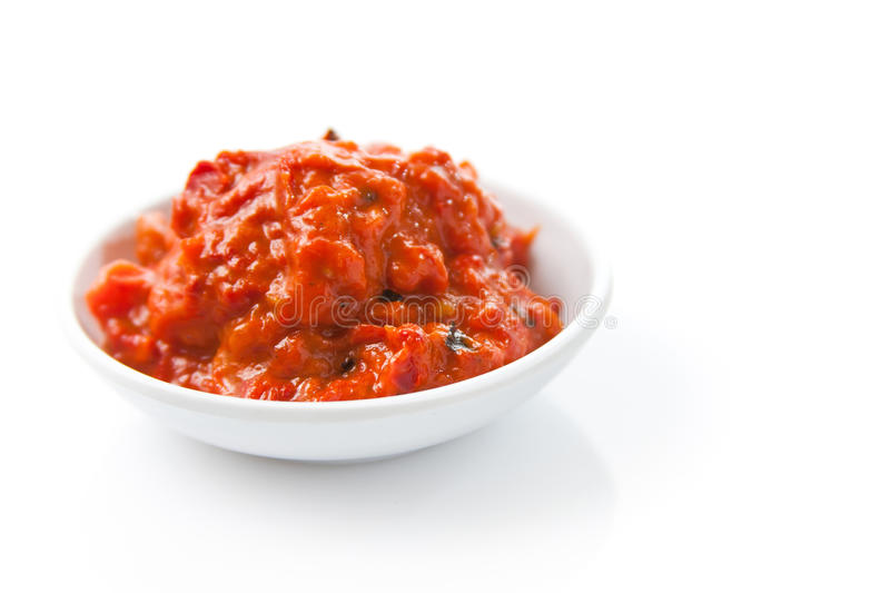 Homemade Ajvar stock photos
