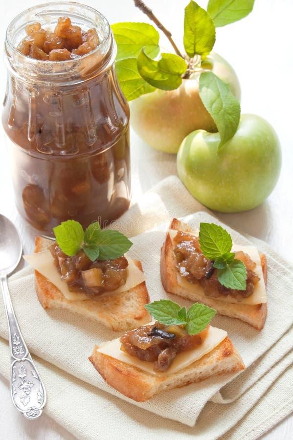 Homemade apple chutney royalty free stock photo