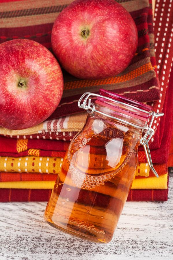 Homemade apple cider stock photos