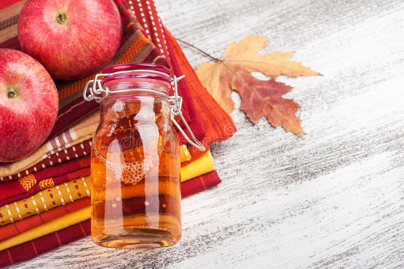 Homemade apple cider royalty free stock photos