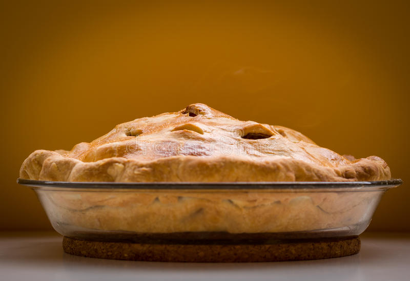 Homemade apple pie royalty free stock photos
