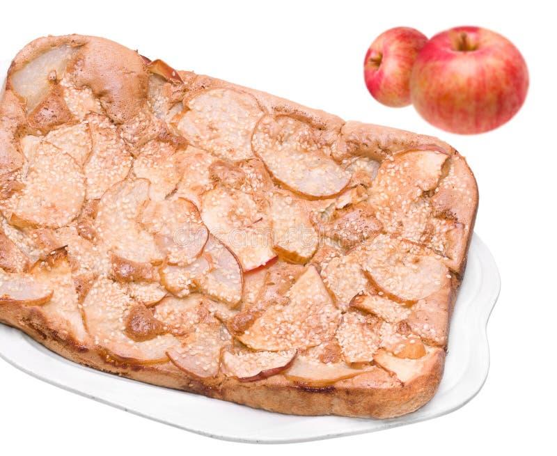 Homemade Apple Pie on Dish stock photos