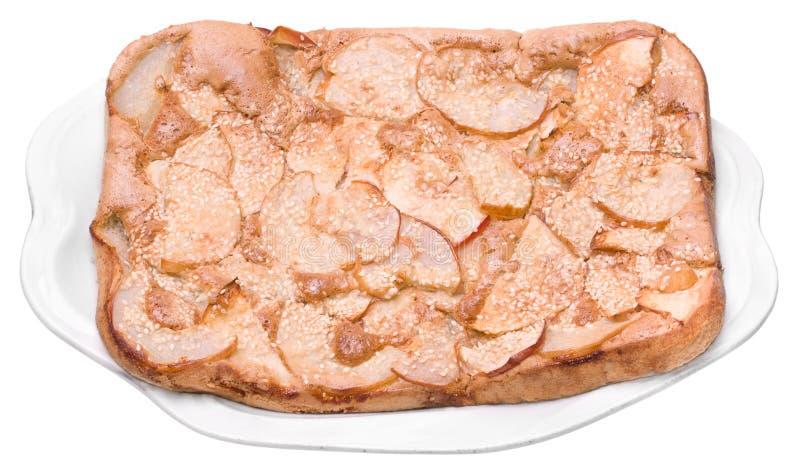 Homemade Apple Pie on Dish royalty free stock photos