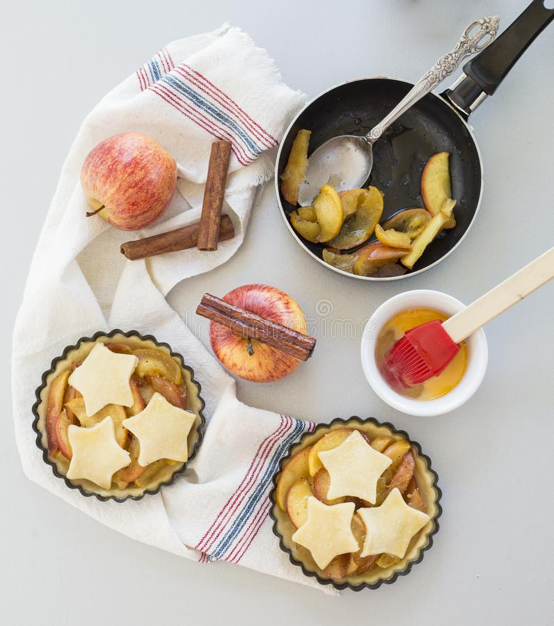 Homemade Apple Pie In Kitchen Stock Image