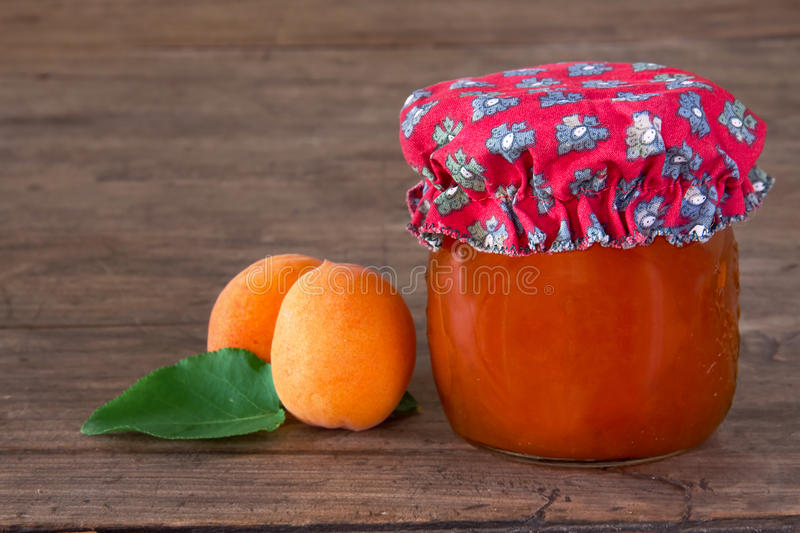 Homemade Apricot Jam In A Jar Royalty Free Stock Photo