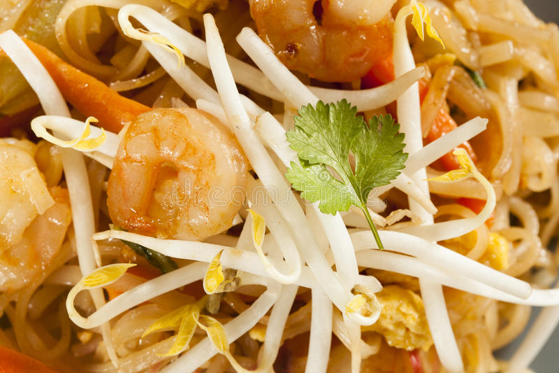 Homemade Asian Pad Thai stock images