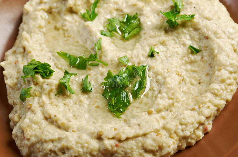 Homemade Baba Ghanoush royalty free stock images