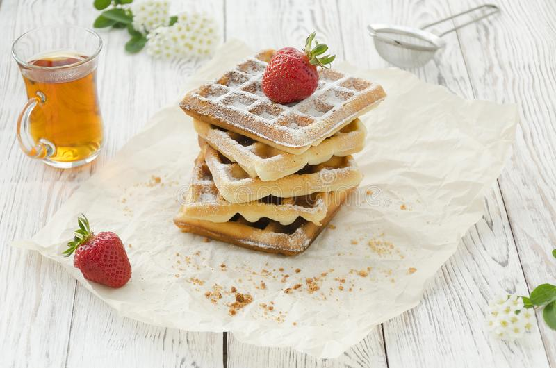 Viennese wafers. Homemade baking stock photography