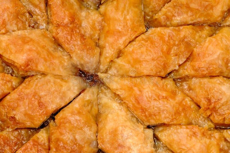 Homemade baklava - Turkish filo sweet pastry 04 stock image