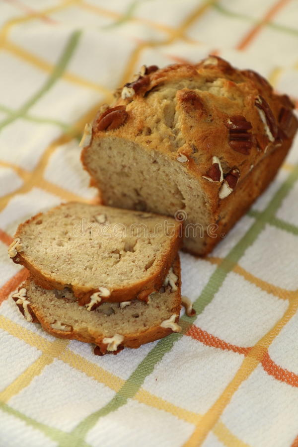 Homemade Banana Bread stock photos