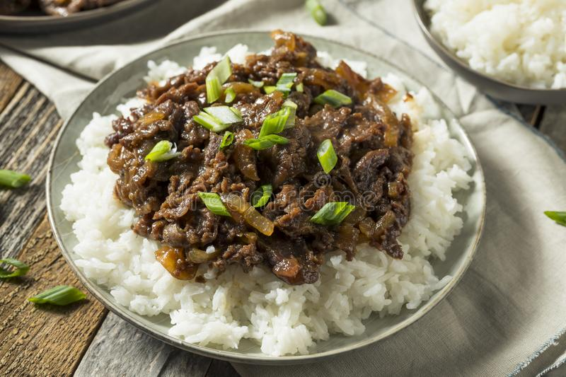 Homemade Barbecue Korean Beef Bulgogi royalty free stock photos
