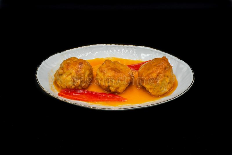 Homemade Beef meatballs stock image