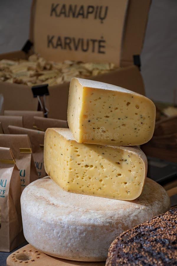 Homemade bio natural cheese royalty free stock photo