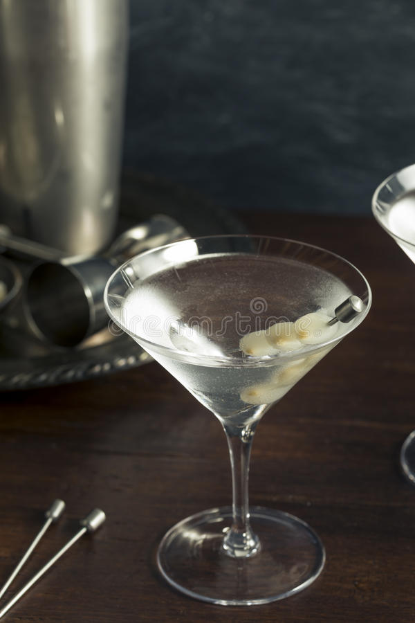 Homemade Boozy Gibson Martini stock images