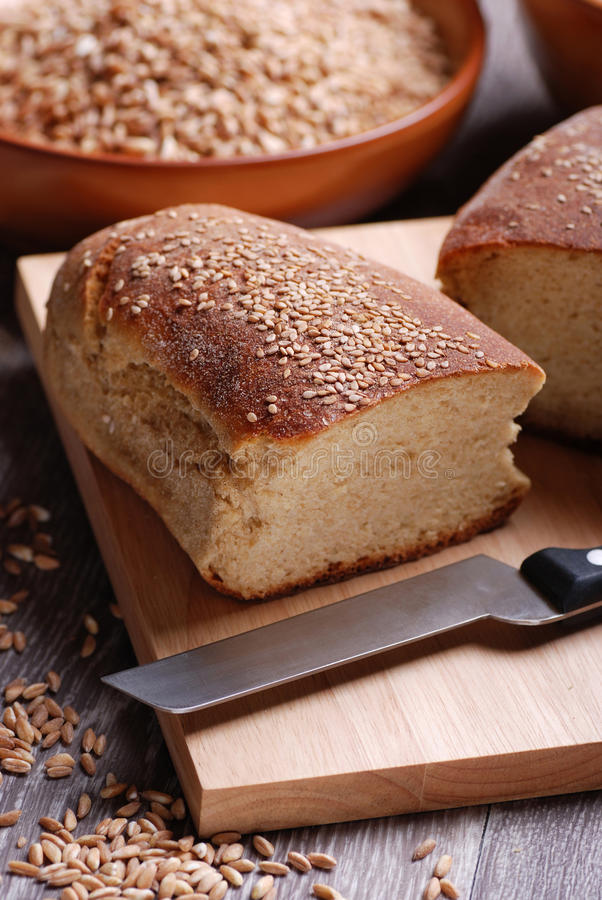 Download Homemade bread stock image. Image of table, healthy, loaf - 25038179