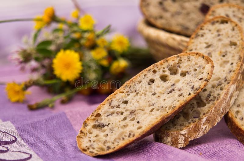 Download Homemade bread stock image. Image of diet, grain, home - 25400597