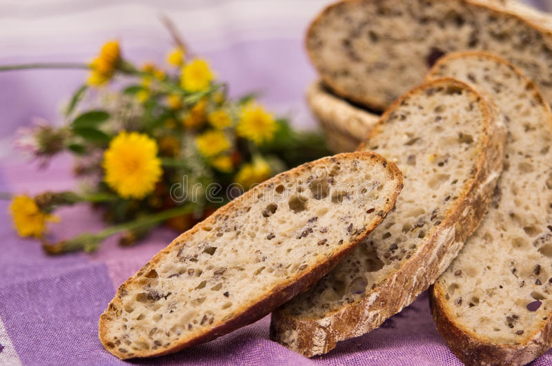 Download Homemade bread stock image. Image of spring, theme, flowery - 25400611