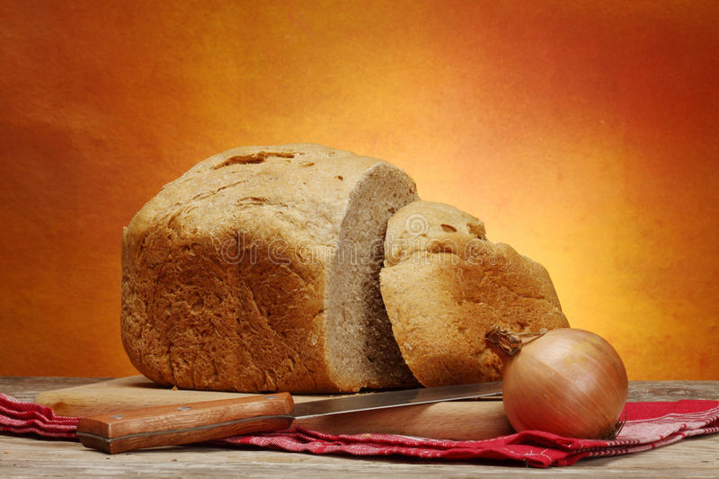 Download Homemade bread and  onion stock photo. Image of round - 20325818