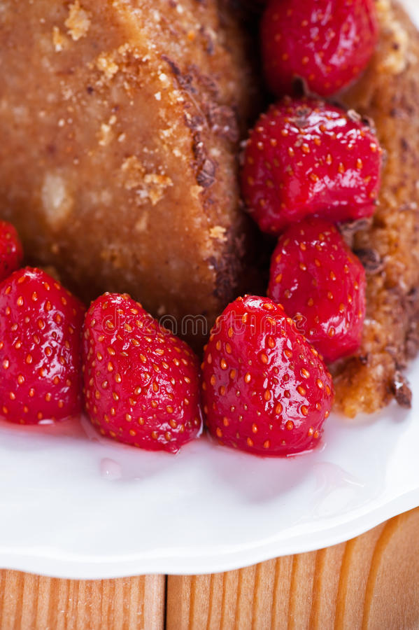 Download Homemade brown cake stock photo. Image of berry, circle - 23872336