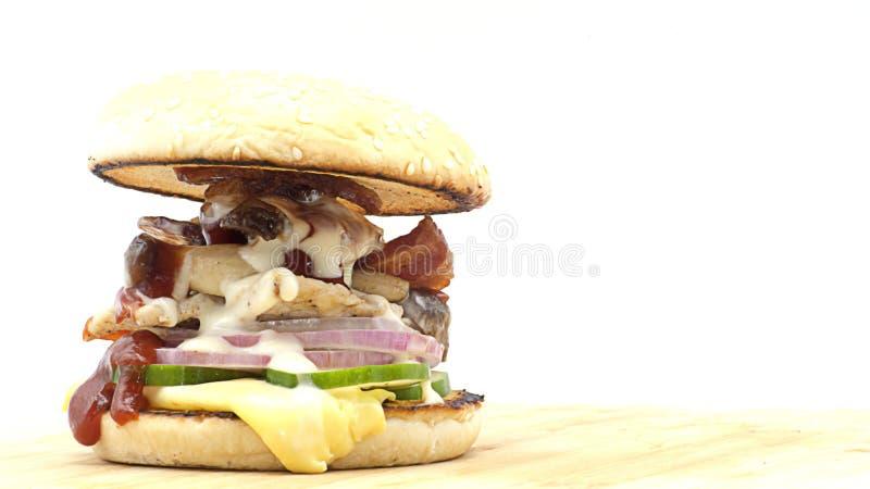 Homemade burgers royalty free stock photo