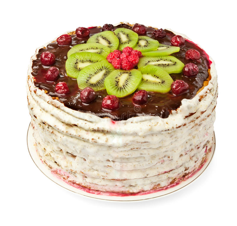 Download Homemade cake stock image. Image of raspberry, circle - 22432699