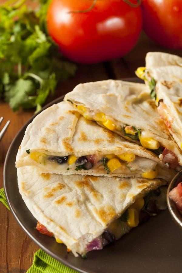 Homemade Cheese and Bean Quesadilla royalty free stock image