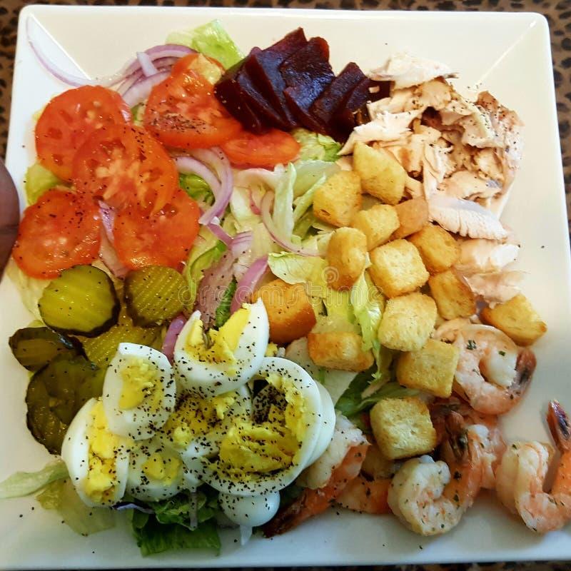 Homemade Chef Salad royalty free stock photography