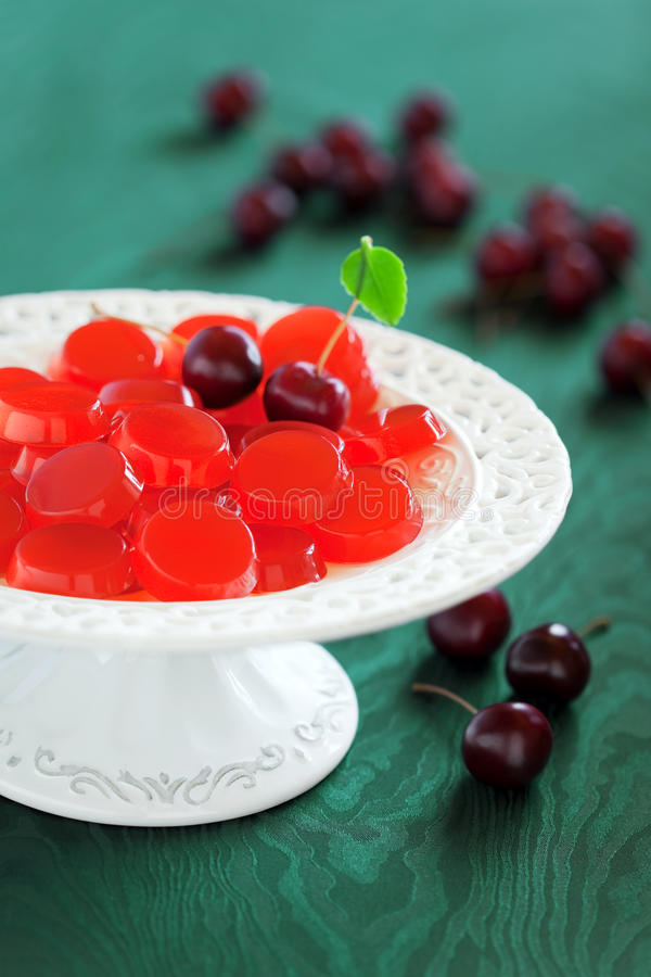 Free Homemade Cherry Jelly Candy Royalty Free Stock Photos - 30567588