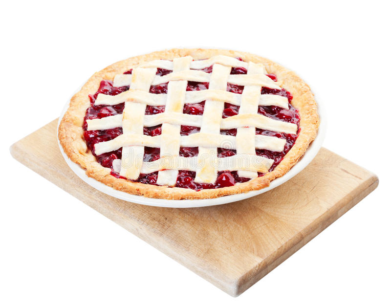 Download Homemade Cherry Pie stock image. Image of wooden, background - 18888171