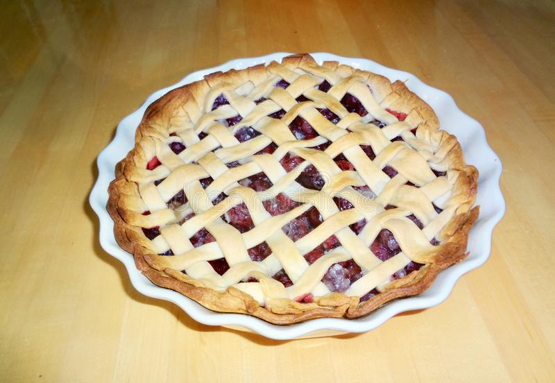Homemade Cherry Pie royalty free stock image