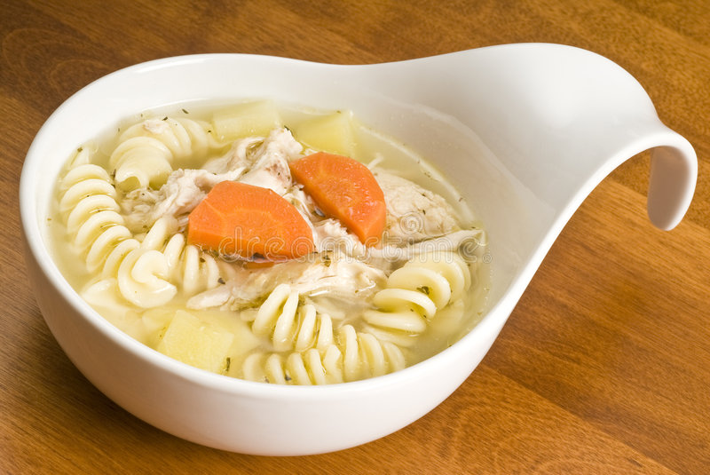 Homemade Chicken Soup With Pasta Royalty Free Stock Images
